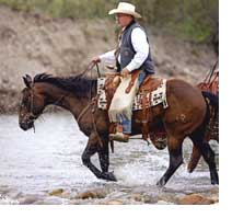Bill Reyolds on his horse