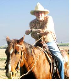 Photo of Gary Brown on Horsebak