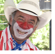Photo of a rodeo clown