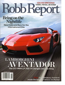 Robb Report August 2011 Cover