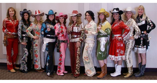 Group photo of the Golden West Cowgirls