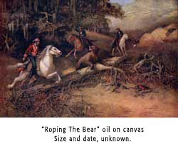 Roping The Bear Oil on Canvas