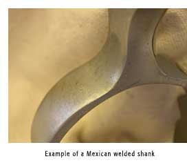 Example of a Mexican Welded Shank