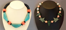 two of Estee's necklace creations